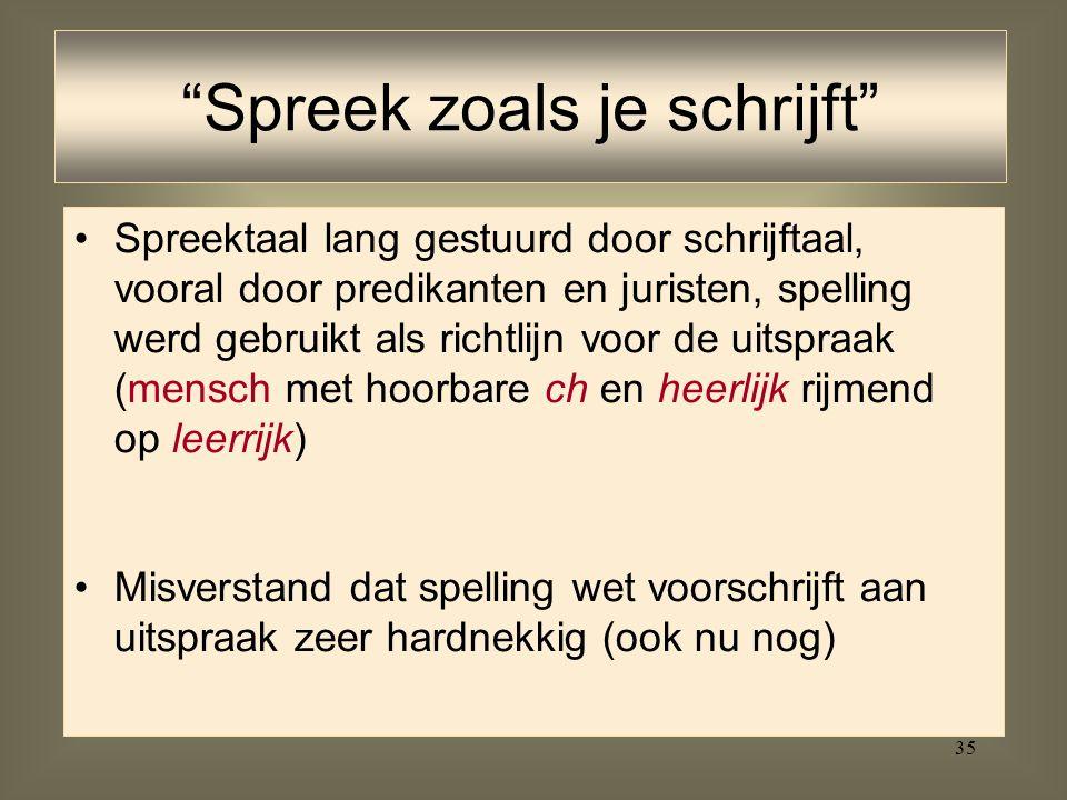 Spreek zoals je schrijft
