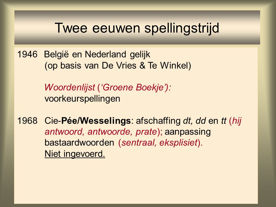 Twee eeuwen spellingstrijd