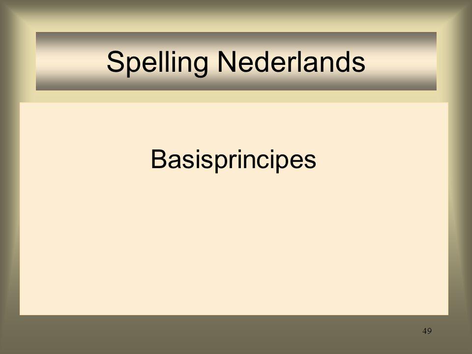 Spelling Nederlands Basisprincipes