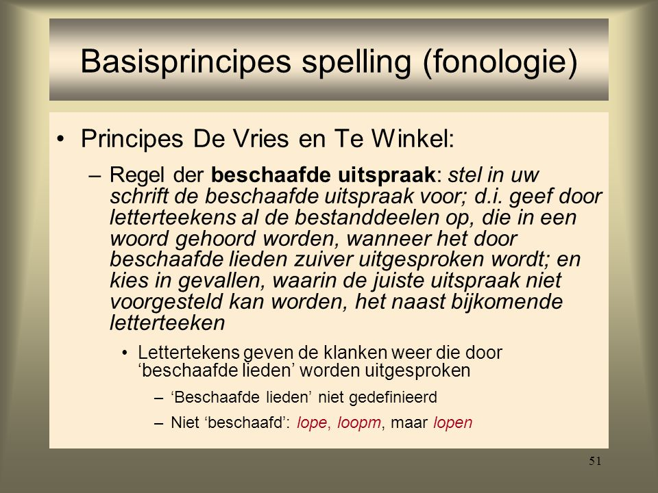 Basisprincipes spelling (fonologie)