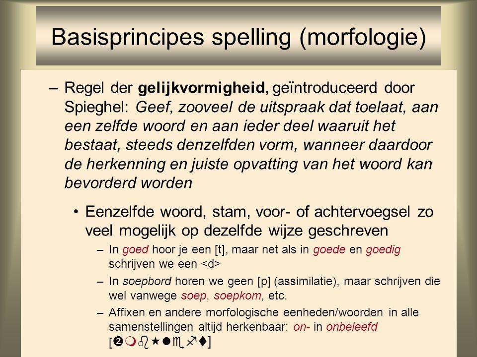 Basisprincipes spelling (morfologie)