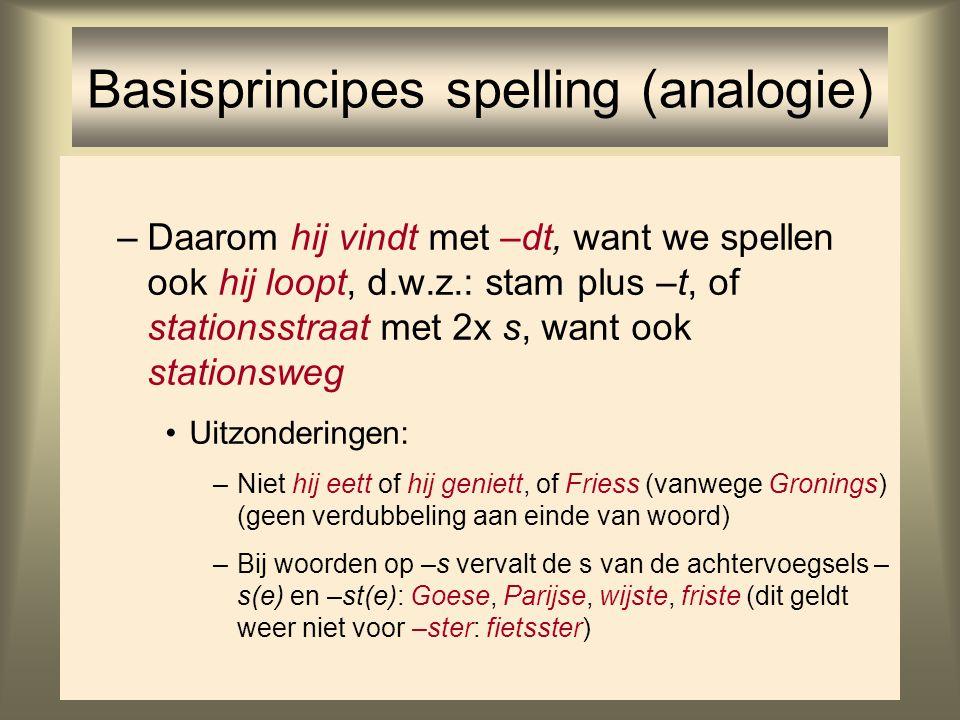 Basisprincipes spelling (analogie)