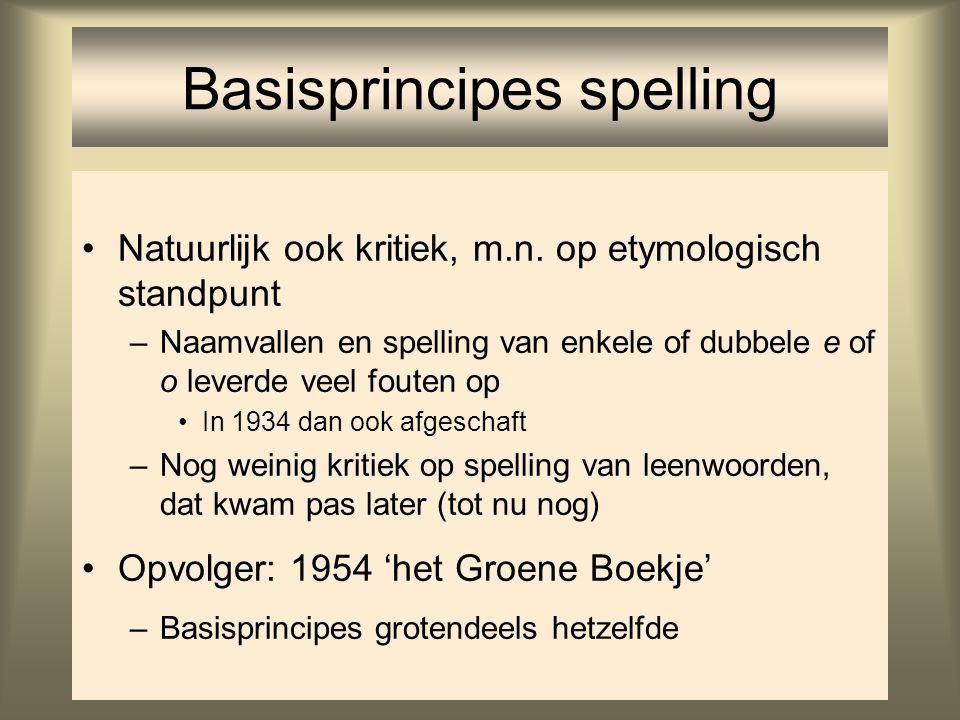 Basisprincipes spelling