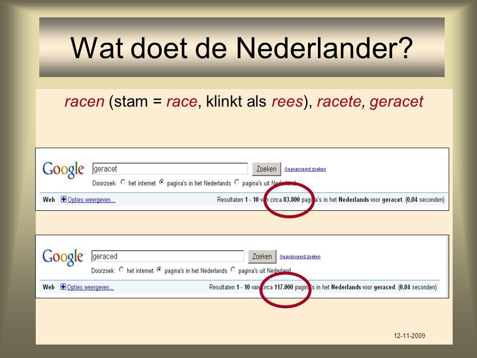 Wat doet de Nederlander