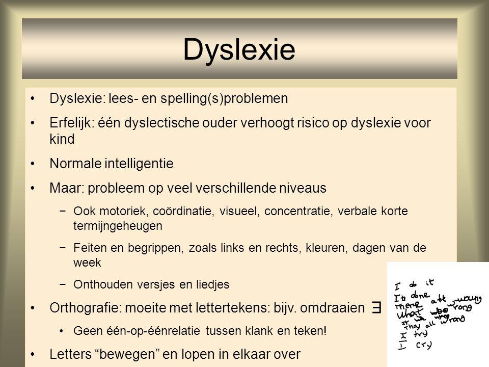Dyslexie E Dyslexie: lees- en spelling(s)problemen