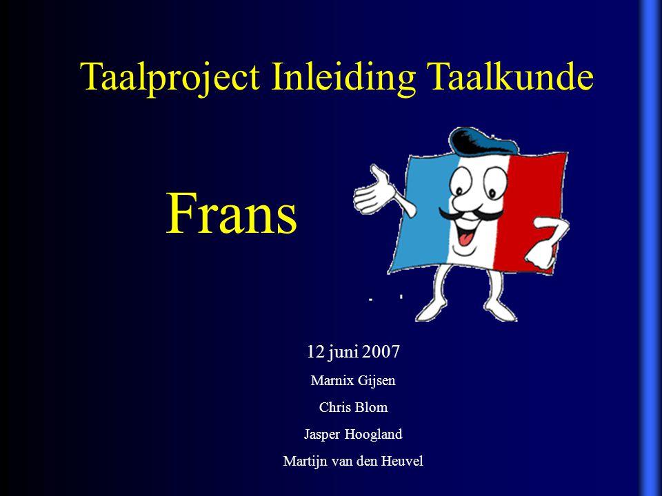 Taalproject Inleiding Taalkunde