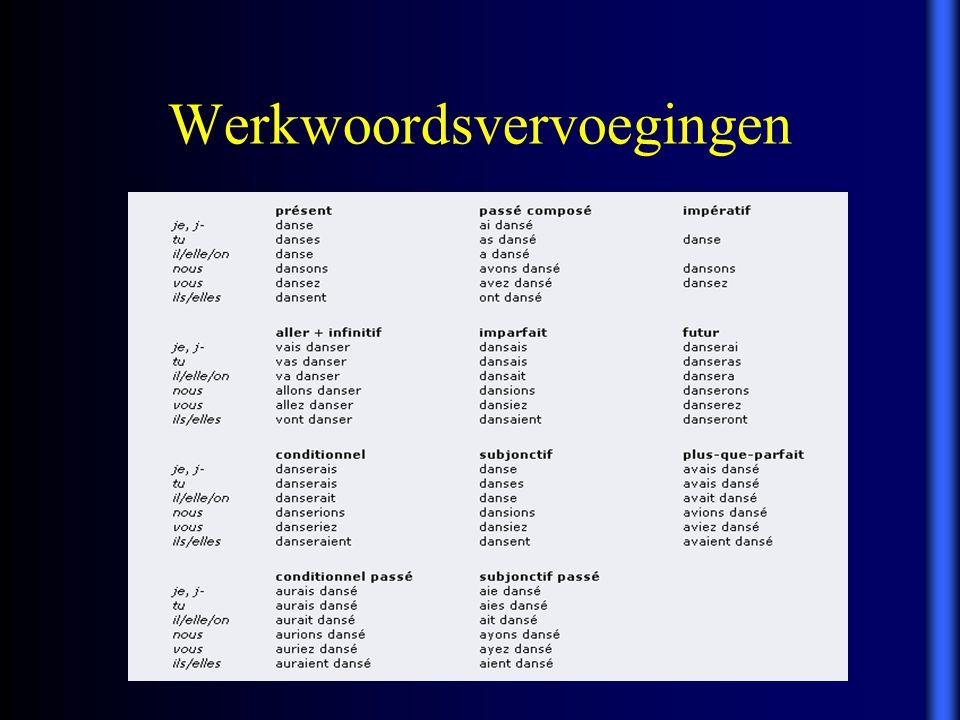 Werkwoordsvervoegingen