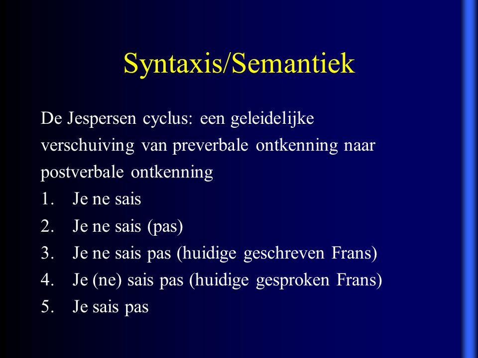Syntaxis/Semantiek De Jespersen cyclus: een geleidelijke
