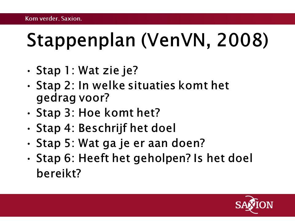 Stappenplan (VenVN, 2008) Stap 1: Wat zie je