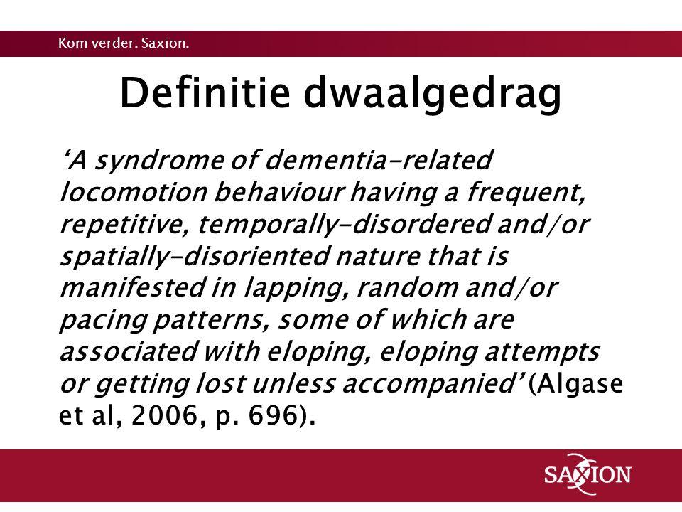 Definitie dwaalgedrag