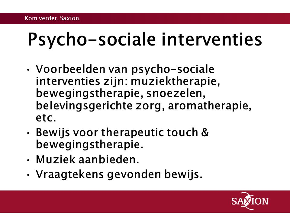 Psycho-sociale interventies