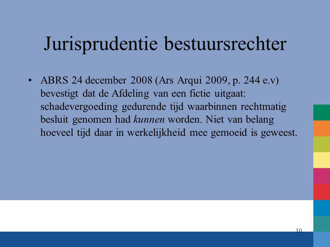 Jurisprudentie bestuursrechter