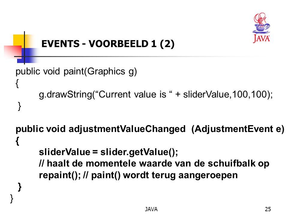 public void paint(Graphics g) {