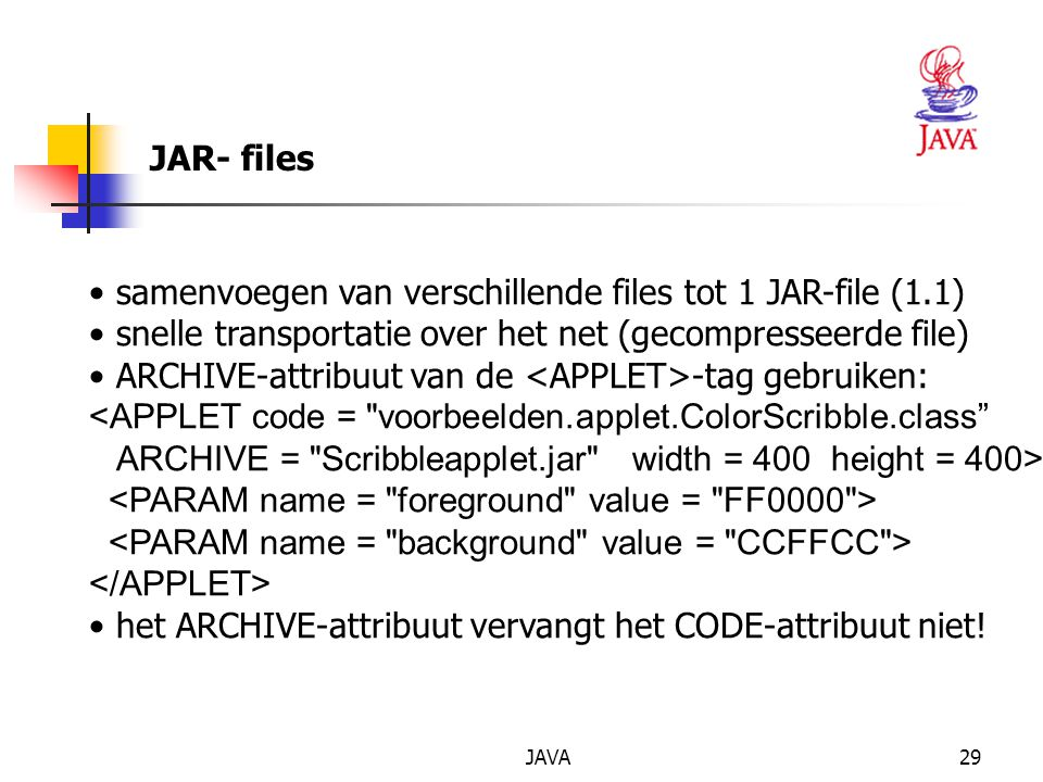 samenvoegen van verschillende files tot 1 JAR-file (1.1)