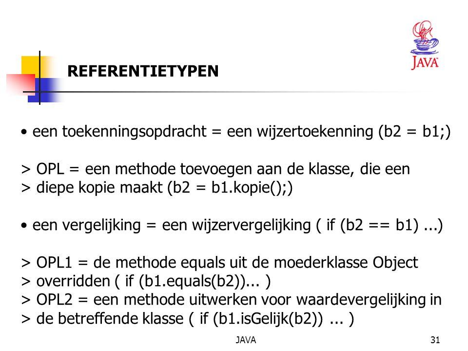 een toekenningsopdracht = een wijzertoekenning (b2 = b1;)