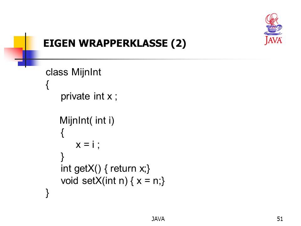 EIGEN WRAPPERKLASSE (2)