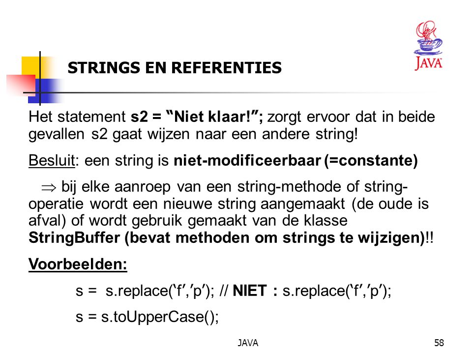 STRINGS EN REFERENTIES