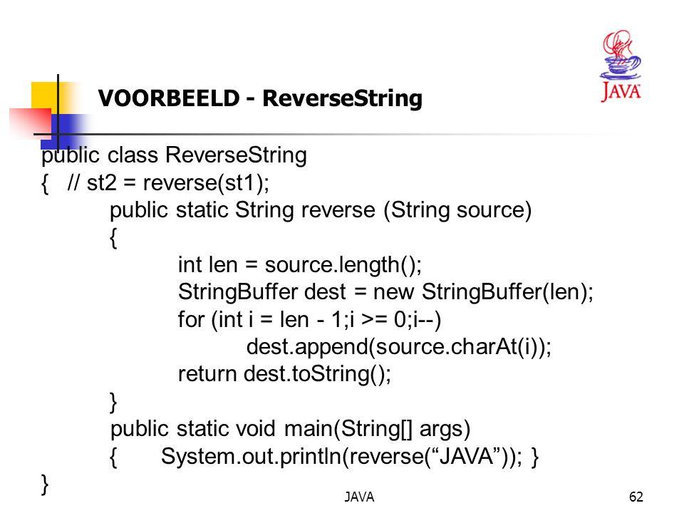 VOORBEELD - ReverseString