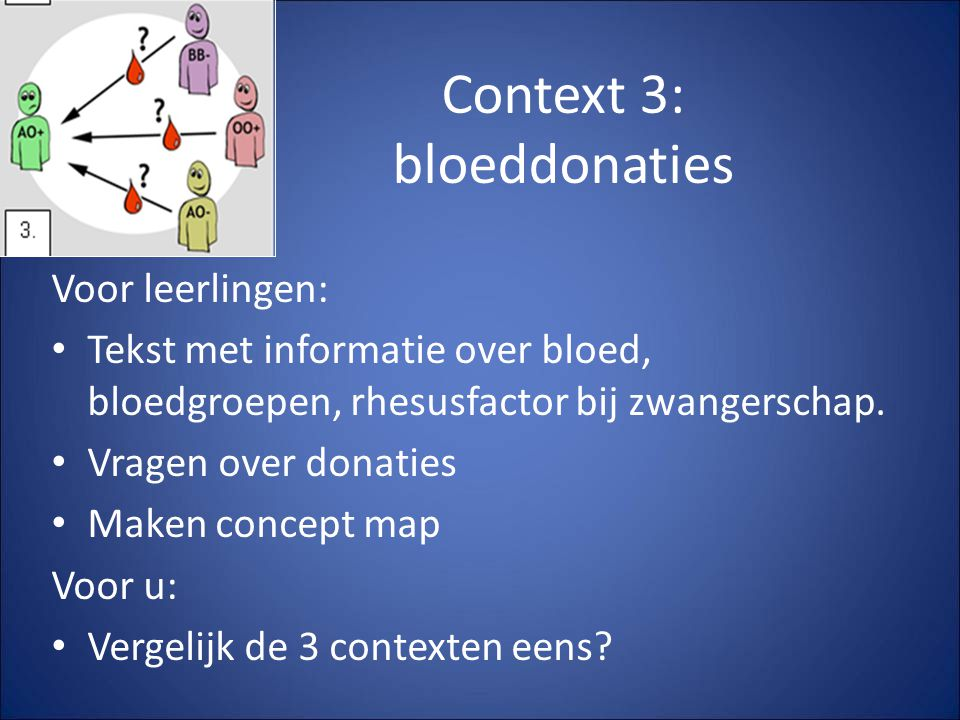 Context 3: bloeddonaties