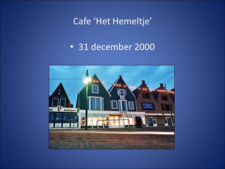 Cafe 'Het Hemeltje' 31 december 2000 Annelies