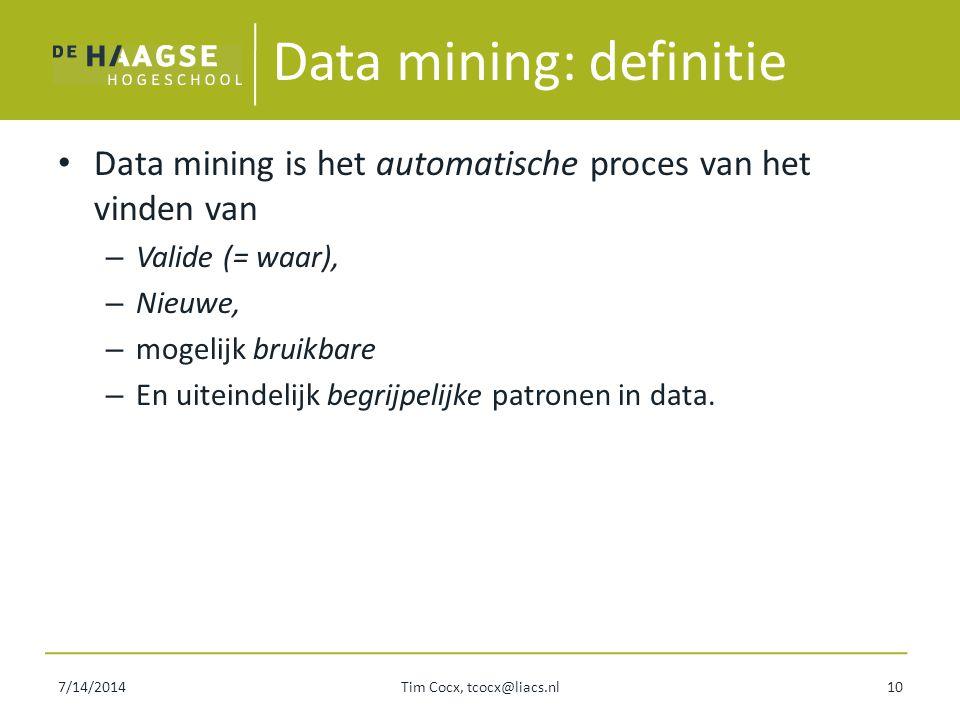 Data mining: definitie
