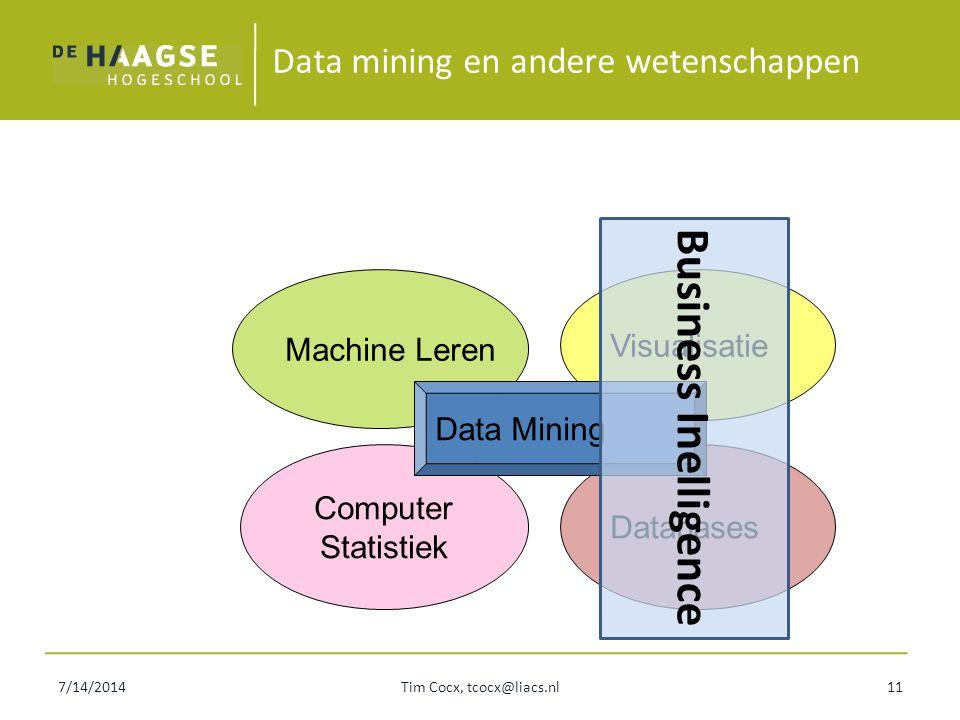 Data mining en andere wetenschappen