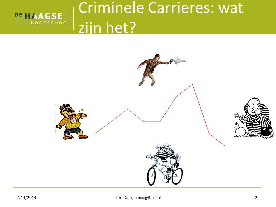 Criminele Carrieres: wat zijn het