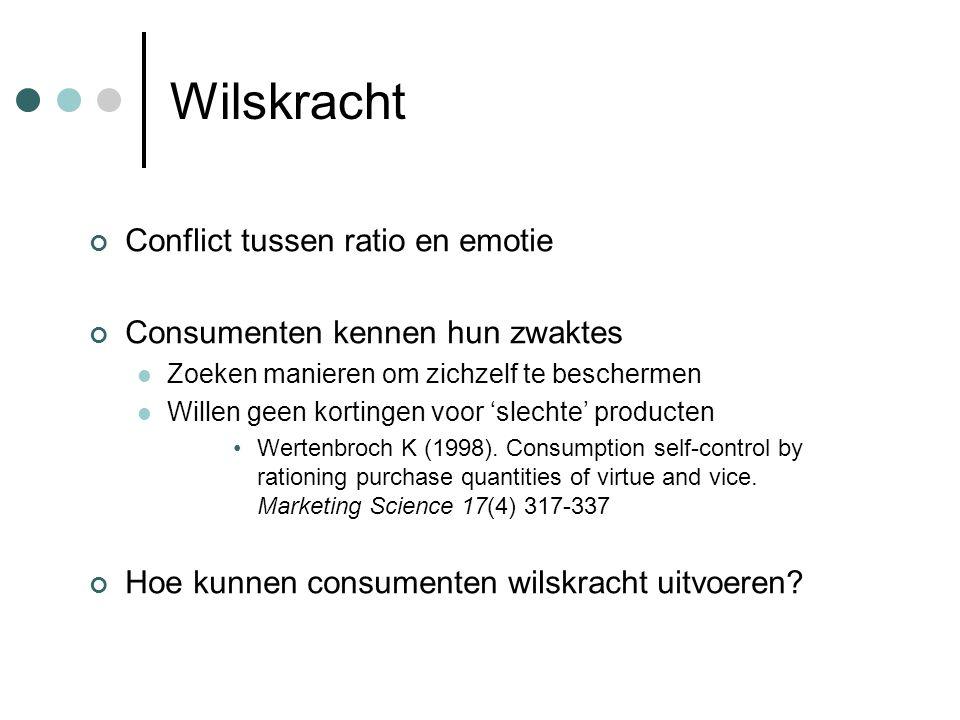 Wilskracht Conflict tussen ratio en emotie