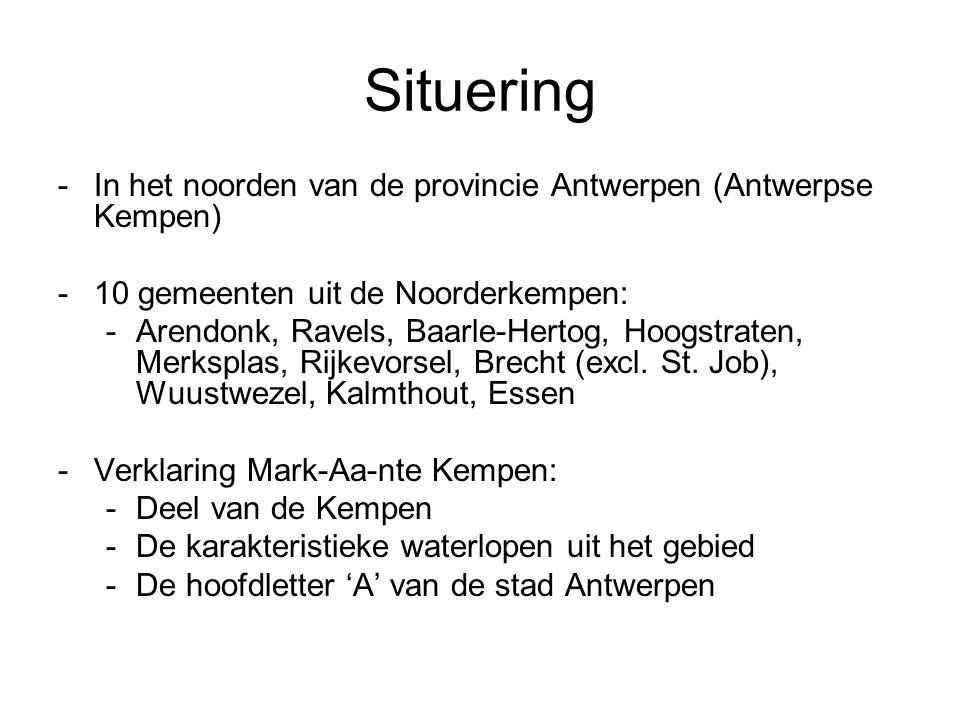 Situering In het noorden van de provincie Antwerpen (Antwerpse Kempen)