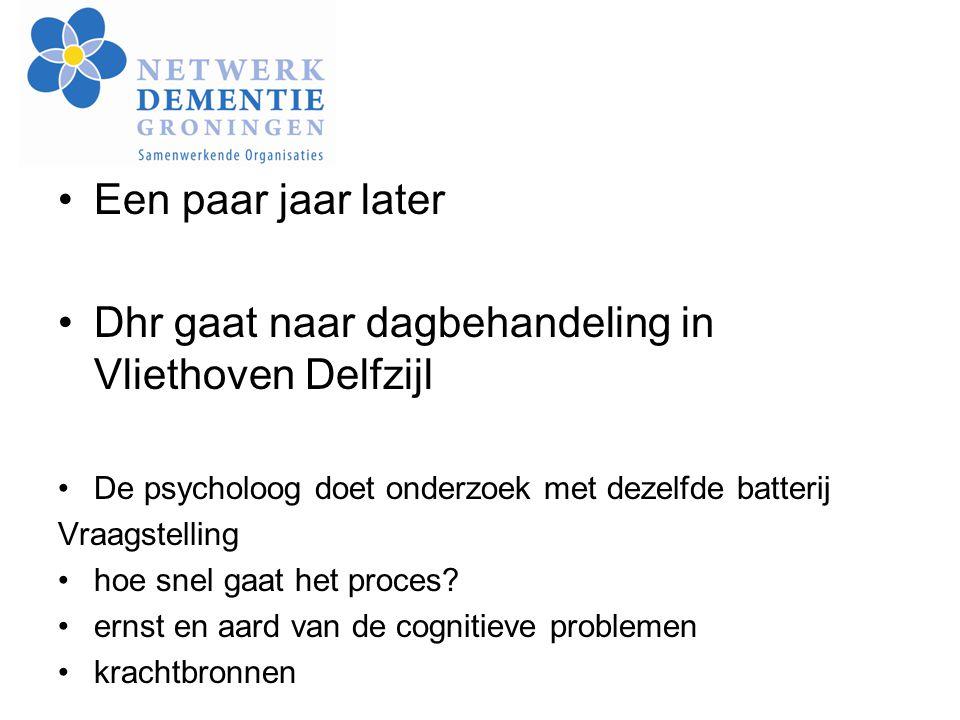 Dhr gaat naar dagbehandeling in Vliethoven Delfzijl