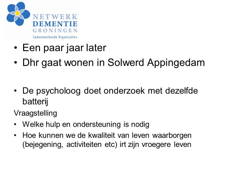 Dhr gaat wonen in Solwerd Appingedam
