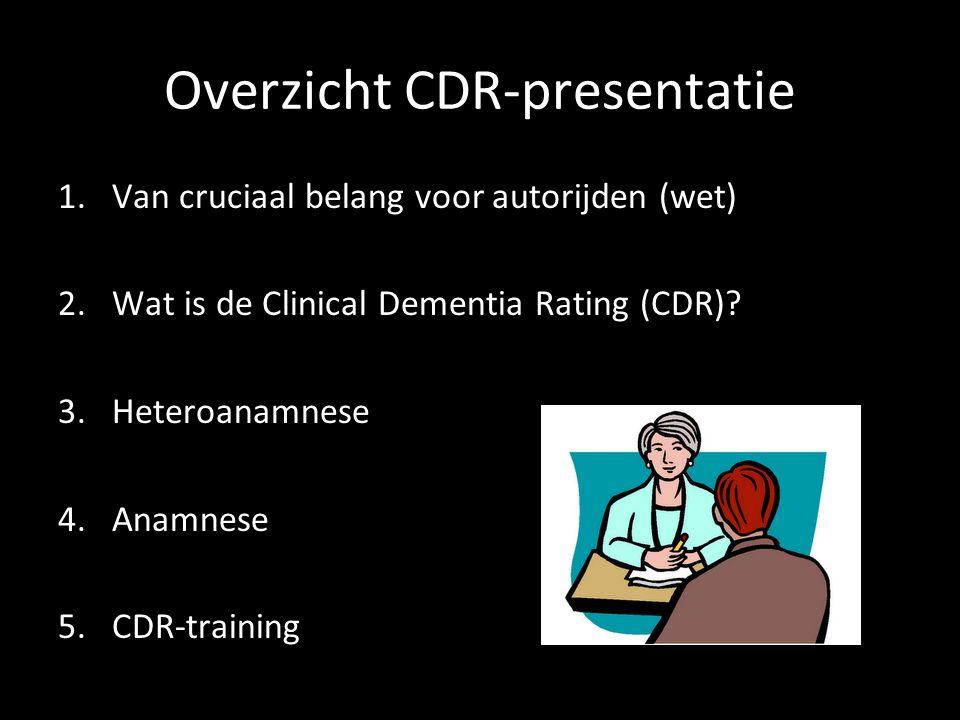 Overzicht CDR-presentatie