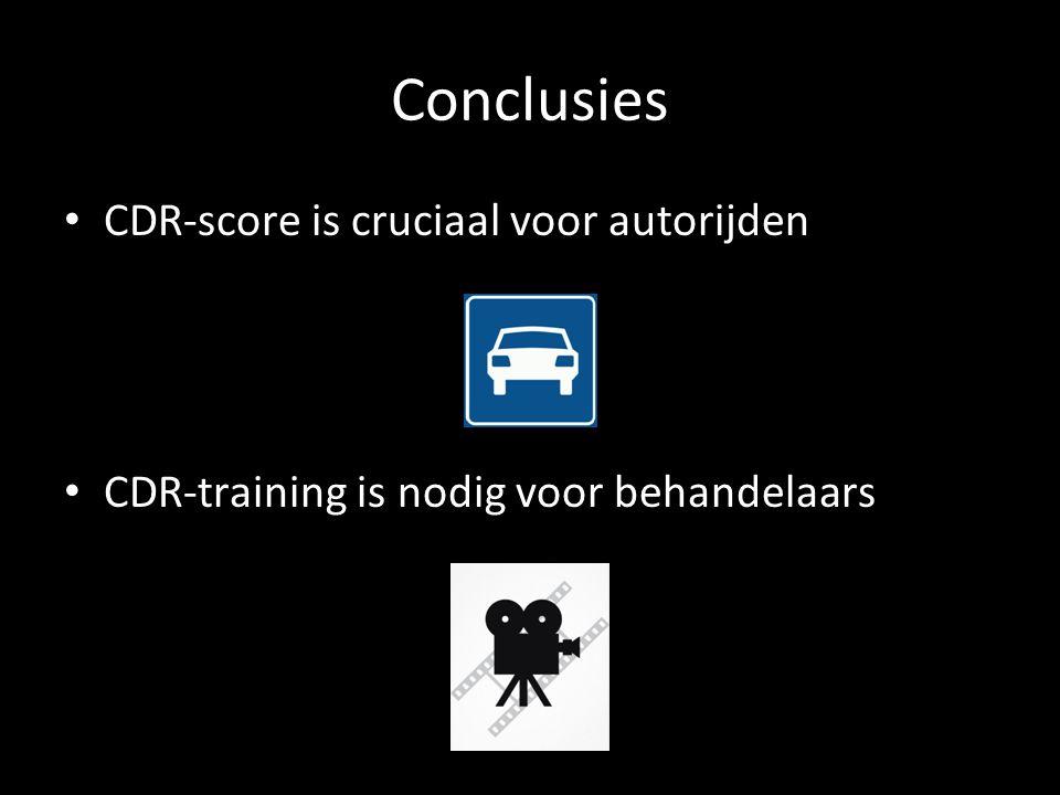 Conclusies CDR-score is cruciaal voor autorijden