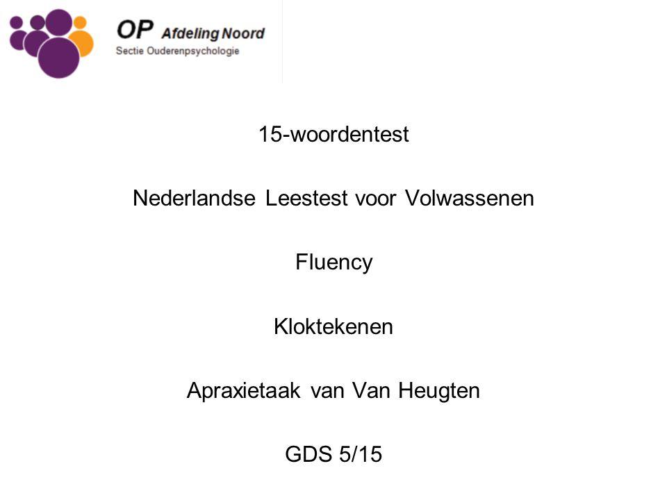 Nederlandse Leestest voor Volwassenen Fluency Kloktekenen