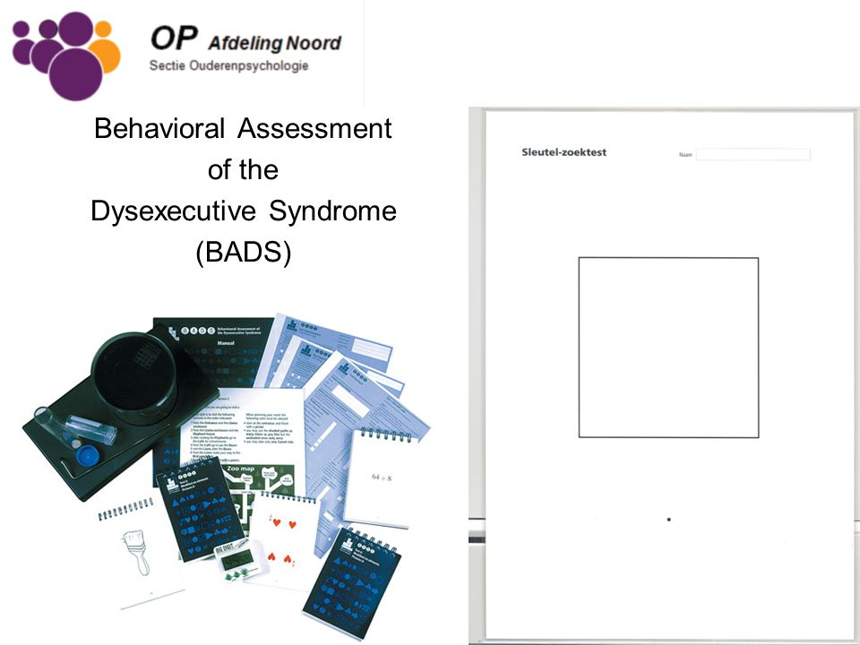 Behavioral Assessment of the Dysexecutive Syndrome (BADS)