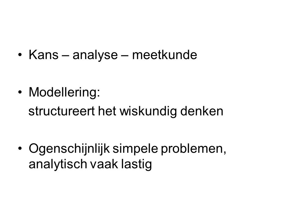 Kans – analyse – meetkunde
