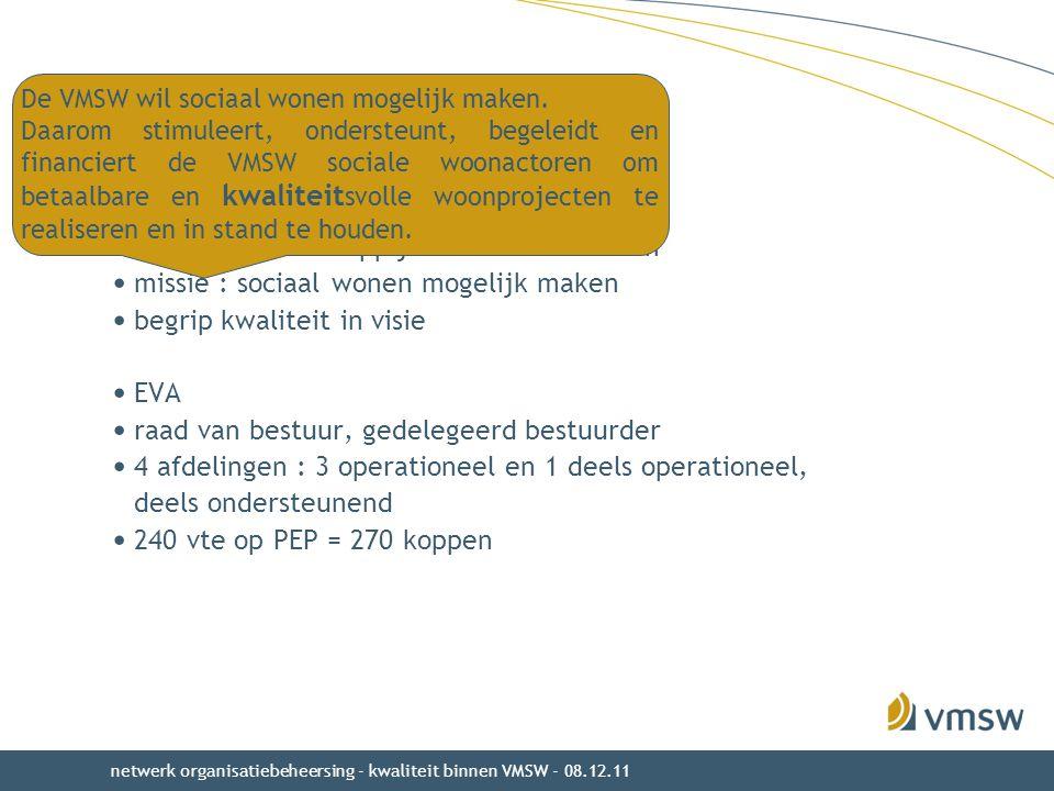 VMSW : wie en wat Vlaamse Maatschappij voor Sociaal Wonen
