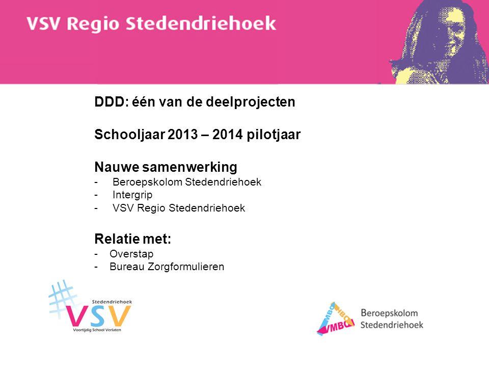 DDD: één van de deelprojecten Schooljaar 2013 – 2014 pilotjaar