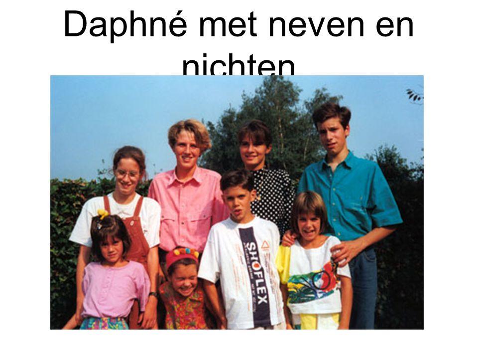 Daphné met neven en nichten