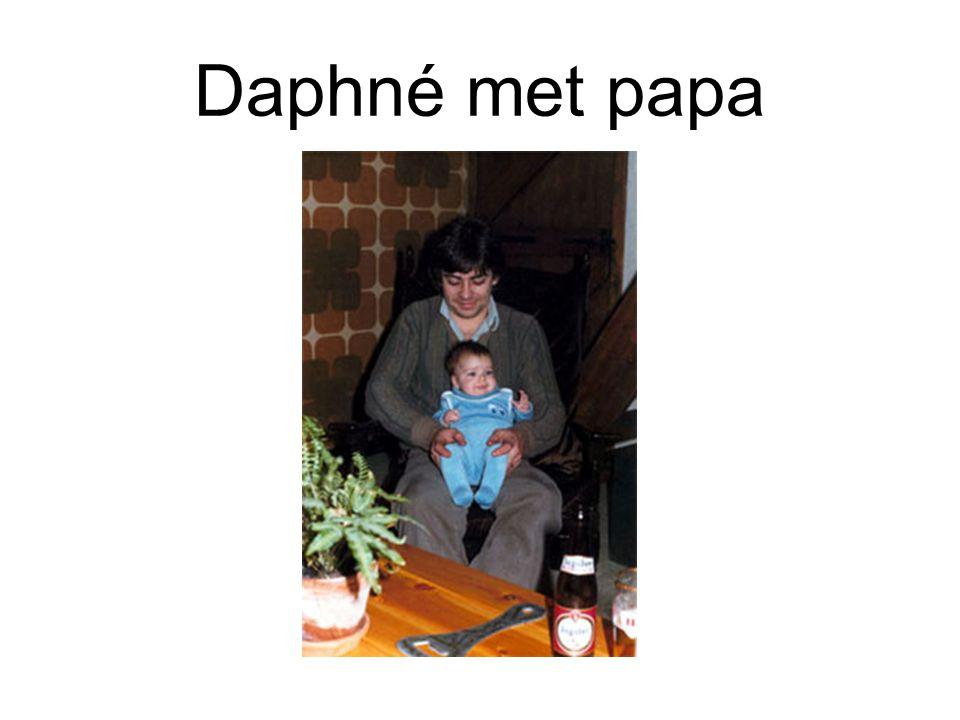 Daphné met papa
