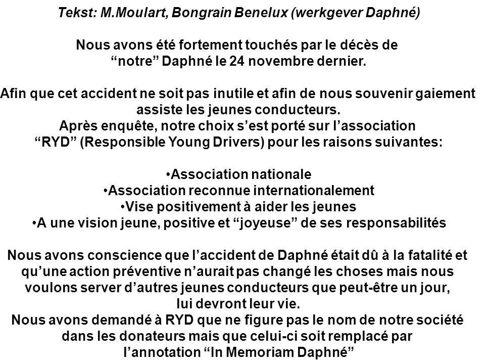 Tekst: M.Moulart, Bongrain Benelux (werkgever Daphné)