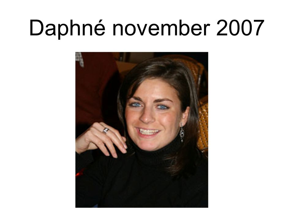 Daphné november 2007