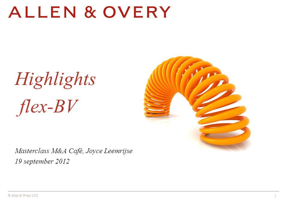 Highlights flex-BV Masterclass M&A Café, Joyce Leemrijse