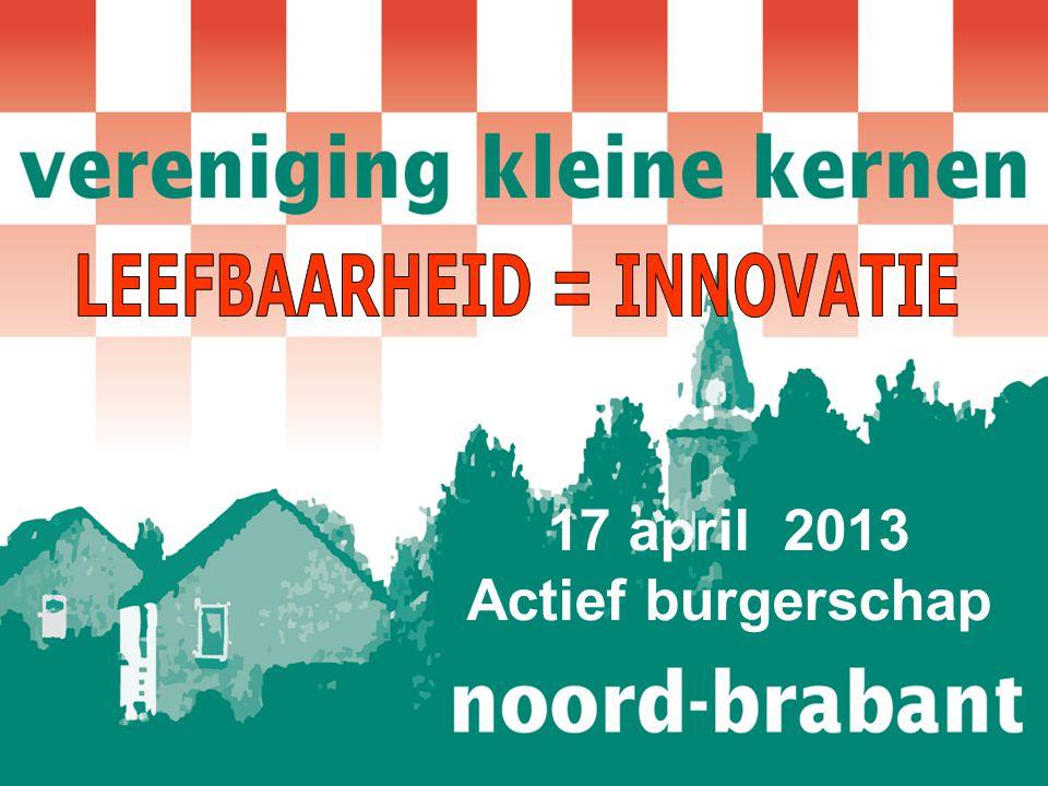 17 april 2013 Actief burgerschap