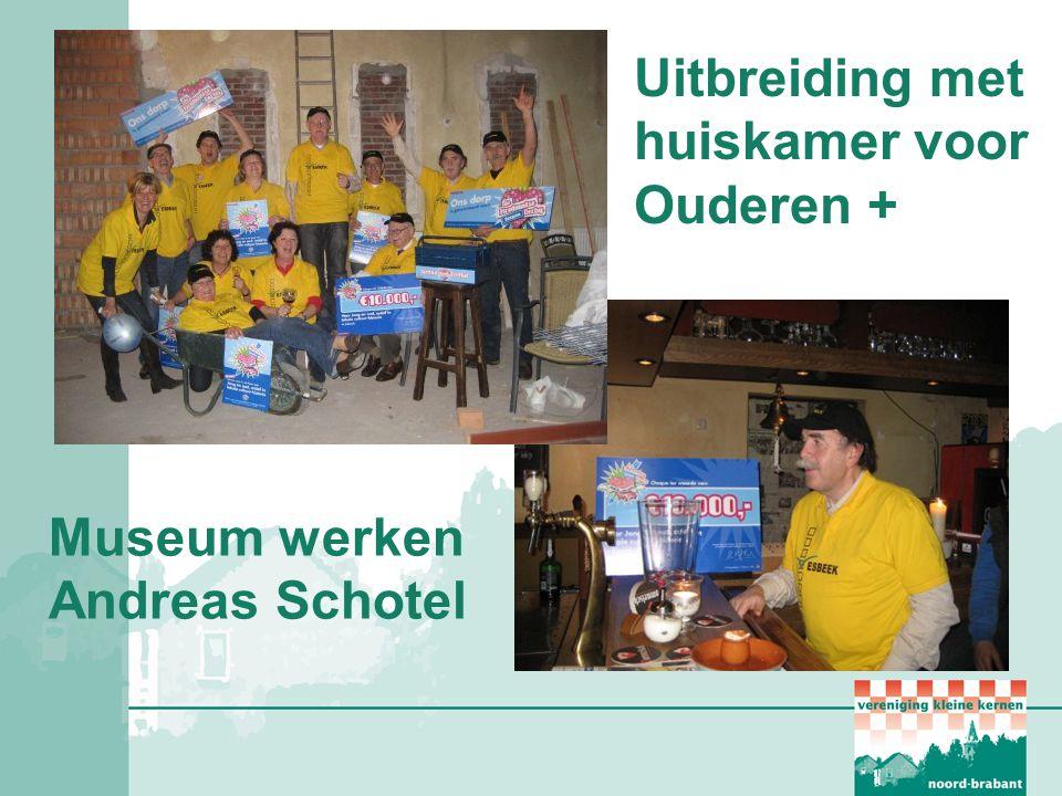 Uitbreiding met huiskamer voor Ouderen + Museum werken Andreas Schotel
