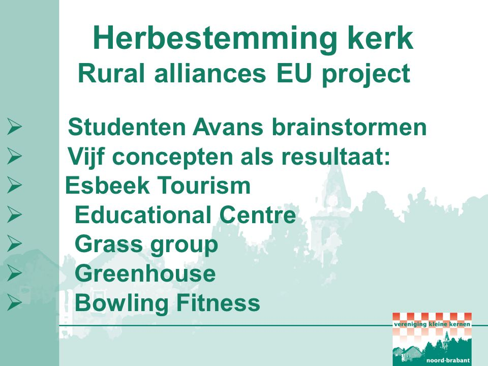 Rural alliances EU project