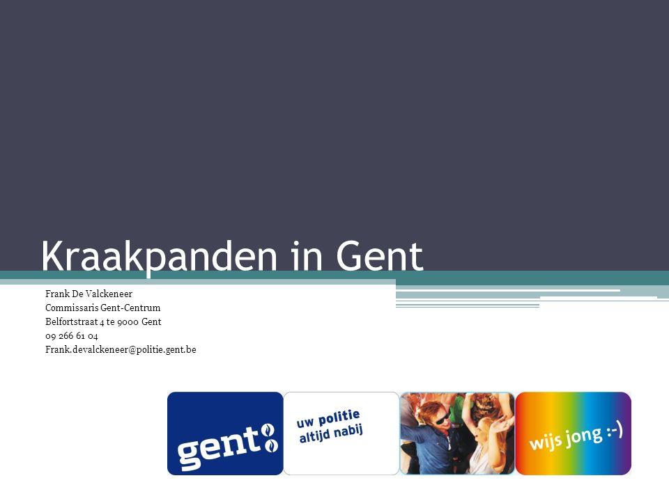 Kraakpanden in Gent Frank De Valckeneer Commissaris Gent-Centrum