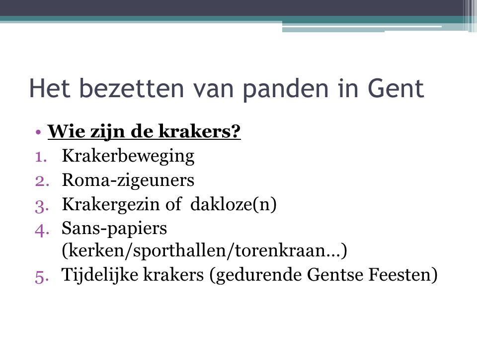 Het bezetten van panden in Gent