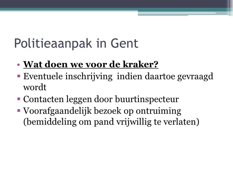 Politieaanpak in Gent Wat doen we voor de kraker