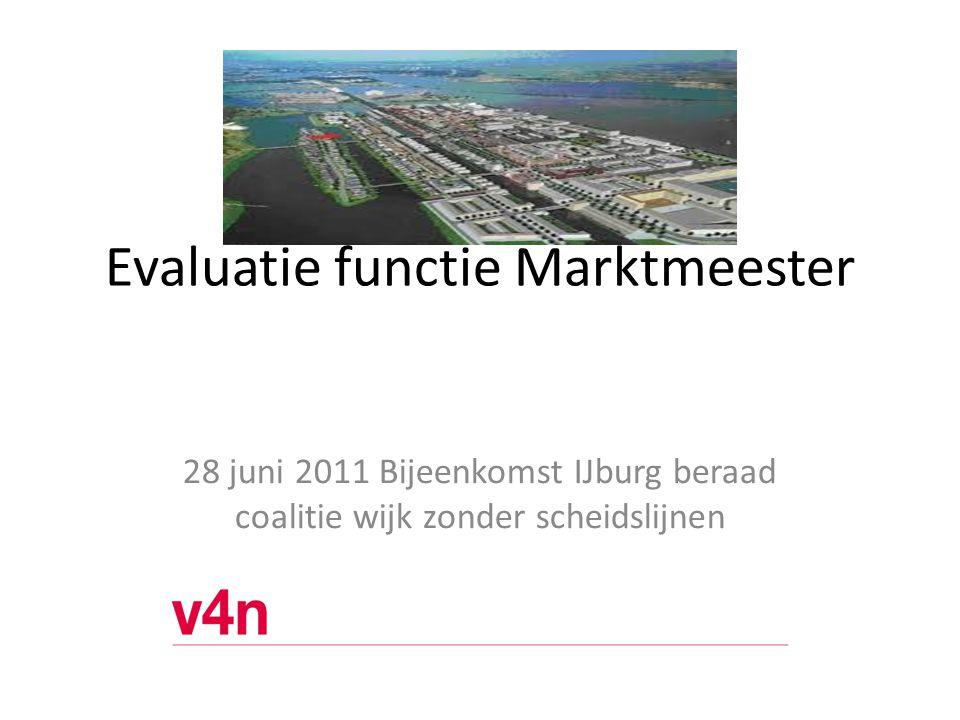 Evaluatie functie Marktmeester urg